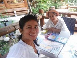 Khine Adler with Liane Wakabayashi