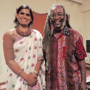 Daniel Babu with Marina Ahmad